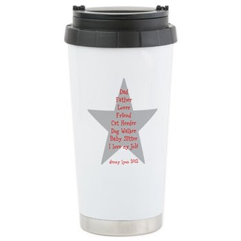 Father's Day Star Ceramic Travel Mug