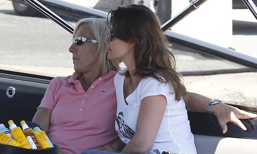 Martina Navratilova holidays in St.Tropez with partner Julia Lemigova