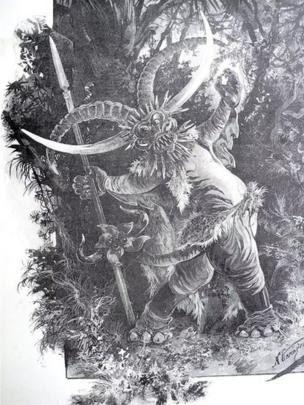 Thần săn bắn của người Việt được họa sĩ Hạm đội Nga mô phỏng