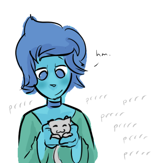 the exact moment lapis decided she was totally down for keeping the barn cats