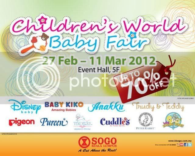 Sogo SALE : Children's World Baby Fair (27 Feb 2012 - 11 Mar 2012)