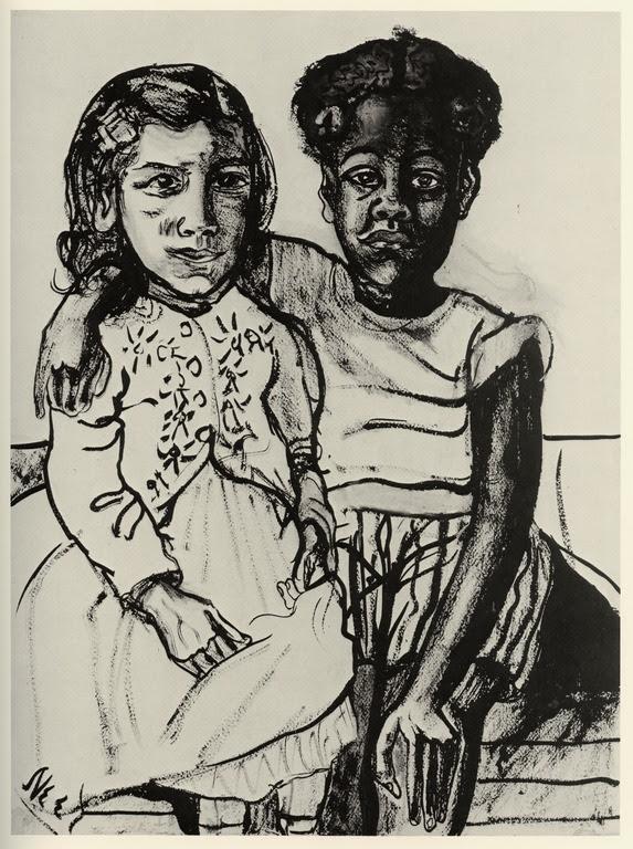 Two Girls - Alice Neel, 1954