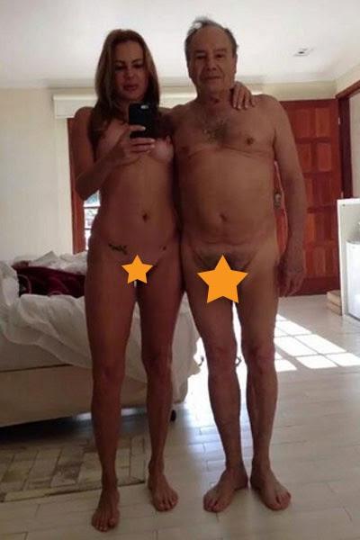 Stenio Garcia e a mulher (Foto: Reprodução)