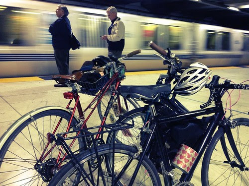 Bikes on Bart trial. Bikes can go on BART anytime this week.
