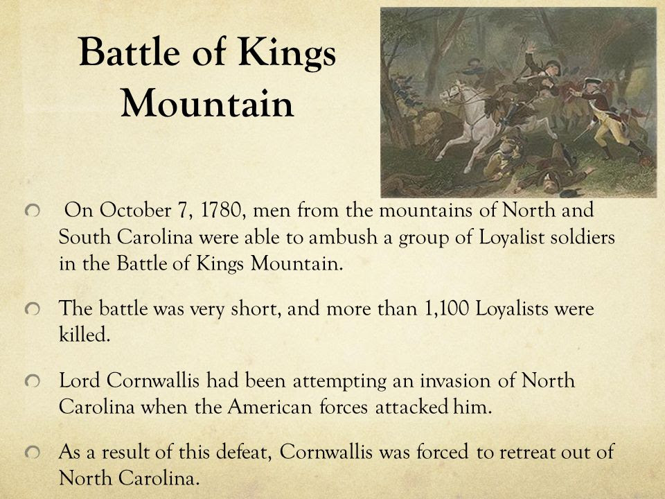 Image result for Battle Of King's Mountain NC?