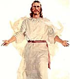 Artist's conception of Jesus Christ arisen from the dead