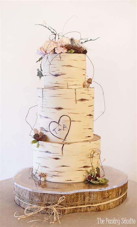 Birch Wood Wedding Cake Custom Designed by The Pastry