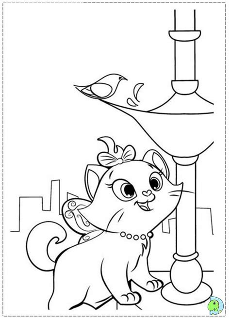 disney marie cat coloring pages   print