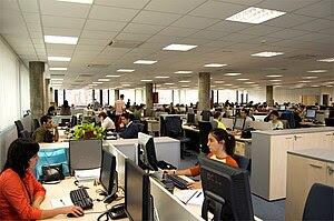 Español: Oficina de Bilbomatica S.A., Bilbao.