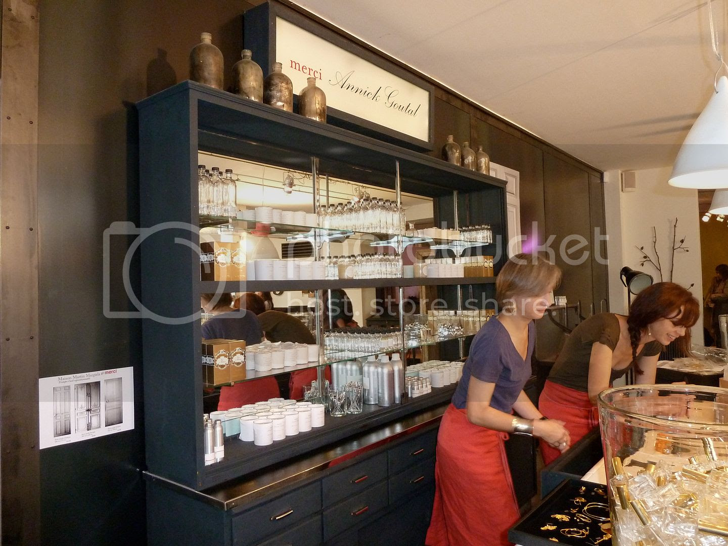 Annick Goutal counter at Merci in Paris