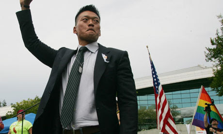 Dan Choi, an Iraq combat veteran who was discharged under 'don't ask, don't tell'