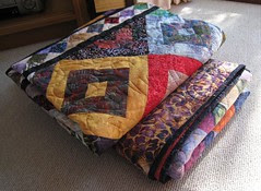 finished batik quilts