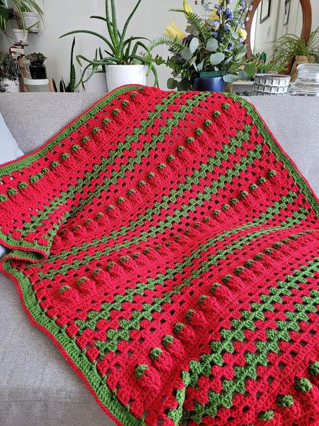 Crochet Kit - Strawberry Sunshine Blanket