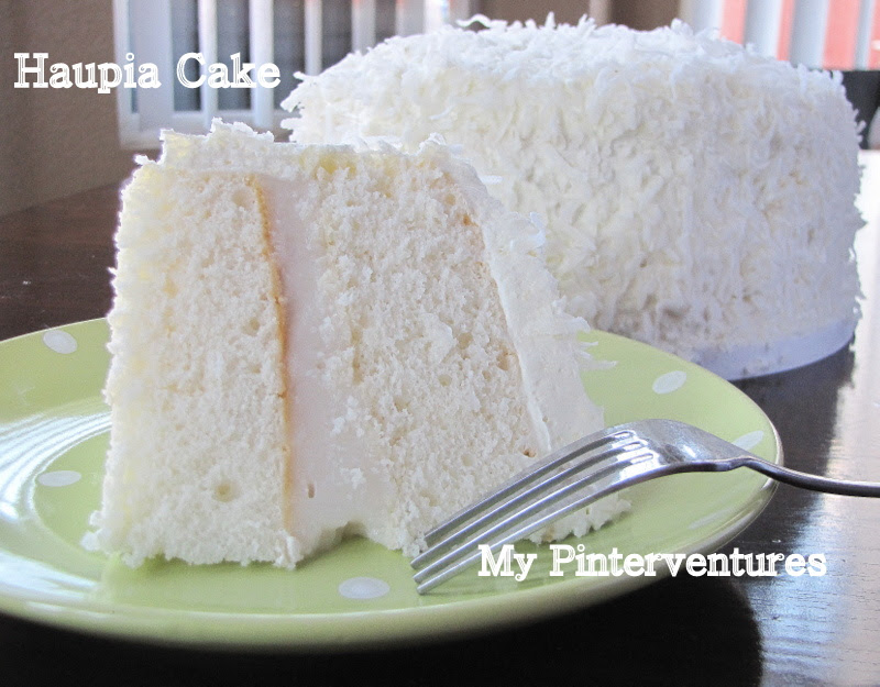 Haupia Cake from My Pinterventures