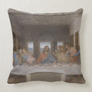 Last Supper - Da Vinci (1495-1498) throwpillow