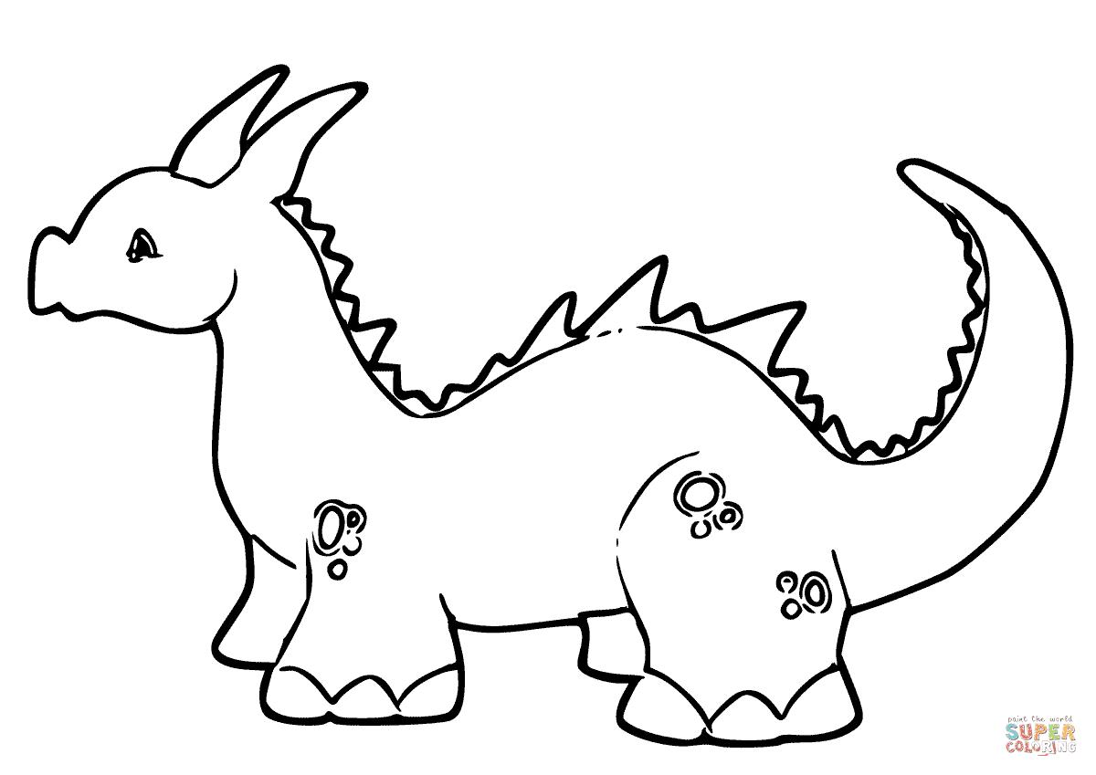 er sur la Bébé dragon mignon coloriages