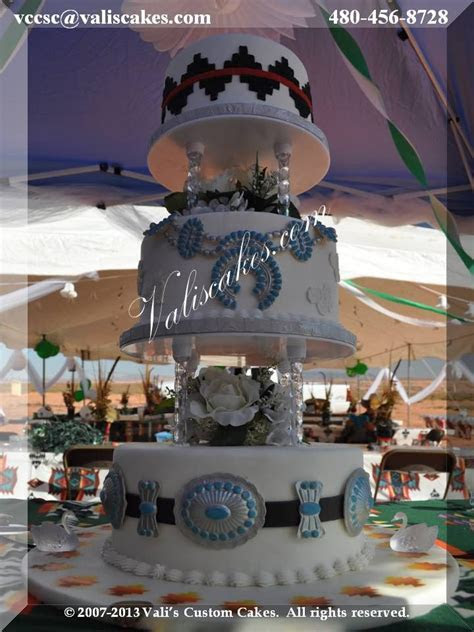 Navajo Wedding Cake   our signature design with Navajo