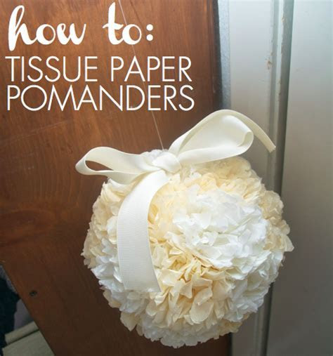 how to DIY tissue paper pomanders for about $2.30 each