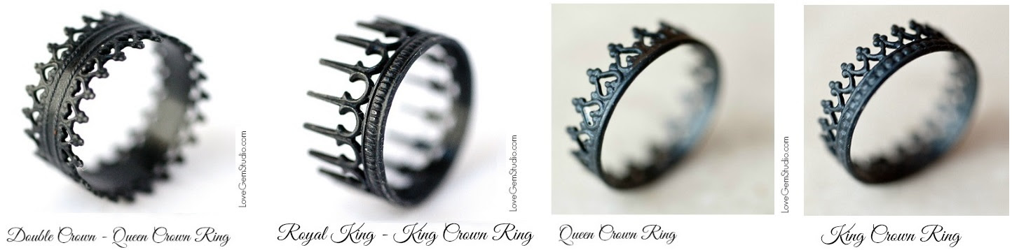 Crown Rings King And Queen Crown Rings Royal Crown Fashion Styles