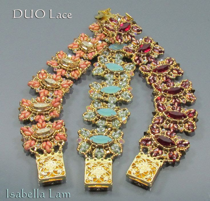 DUO Lace SuperDuo Beadwork Bracelet Pdf tutorial instructions for personal use only. $14.00, via Etsy.