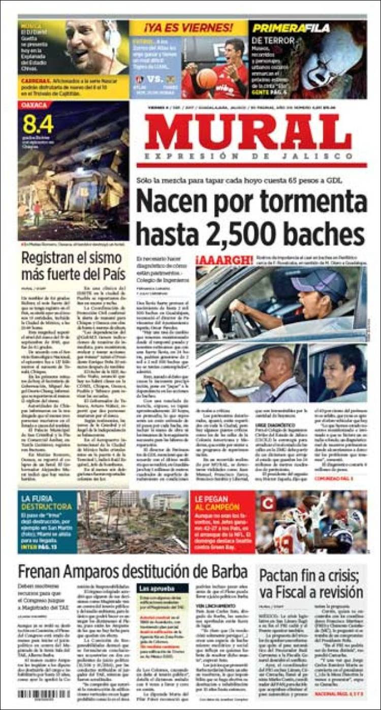 Newspaper El Mural Mexico Newspapers In Mexico Today S Press