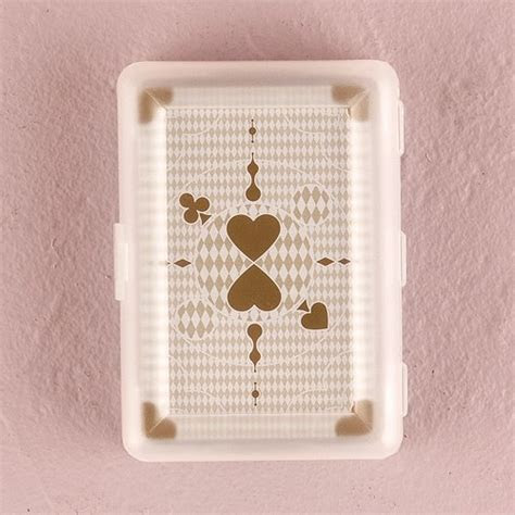 Classic Metallic Gold Playing Cards in Plastic Case