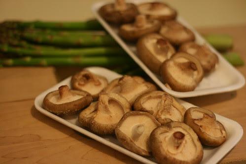 Fresh shiitake mushrooms