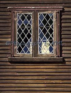 crosses in a window pane