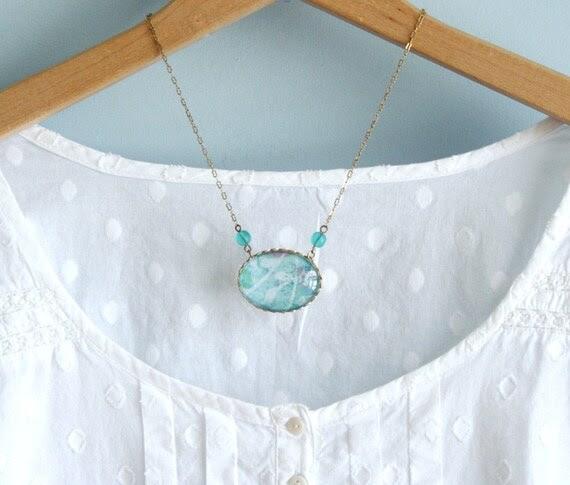 Pale Aqua Necklace
