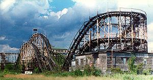 The former Thunderbolt roller coaster, Coney I...