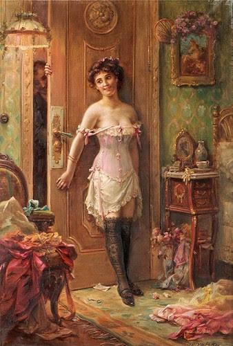 Zatzka, Hans (Austrian,    1859-1945)  - The Amourous Visitor  -  s.d.