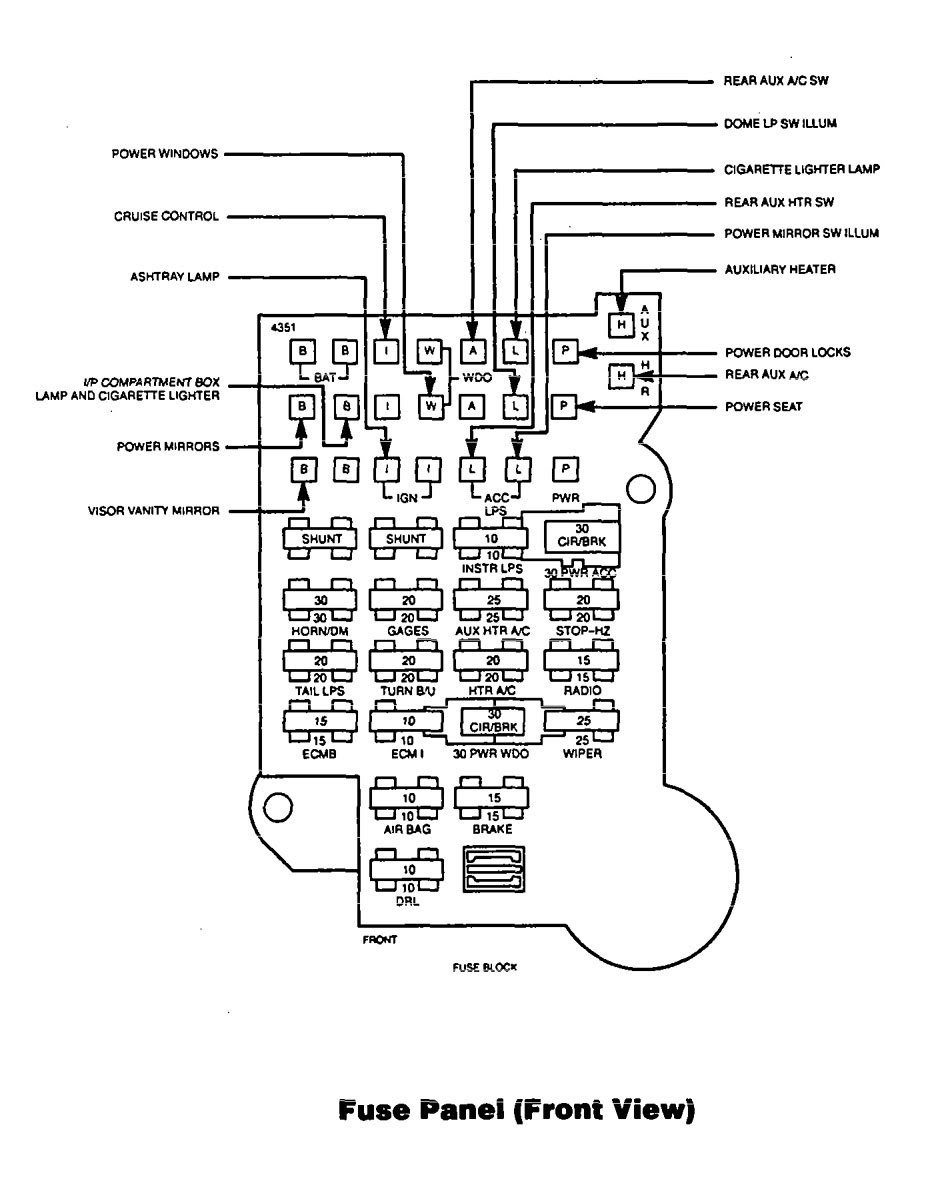 A273 94 Gmc Fuse Box Diagram Wiring Library