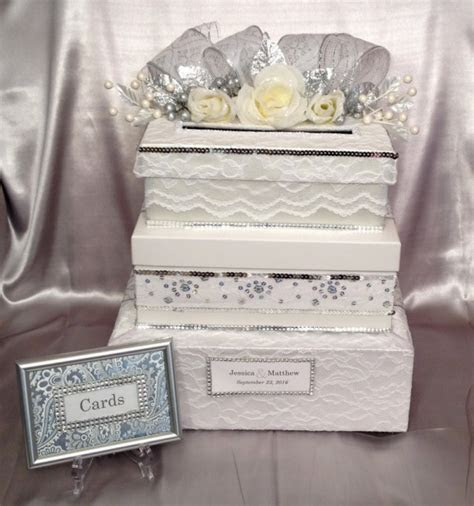 White Wedding Card Box, 3 tiers, All The Best Card Boxes