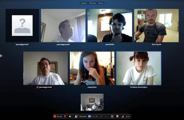 Resultado de imagen de skype videollamada grupal
