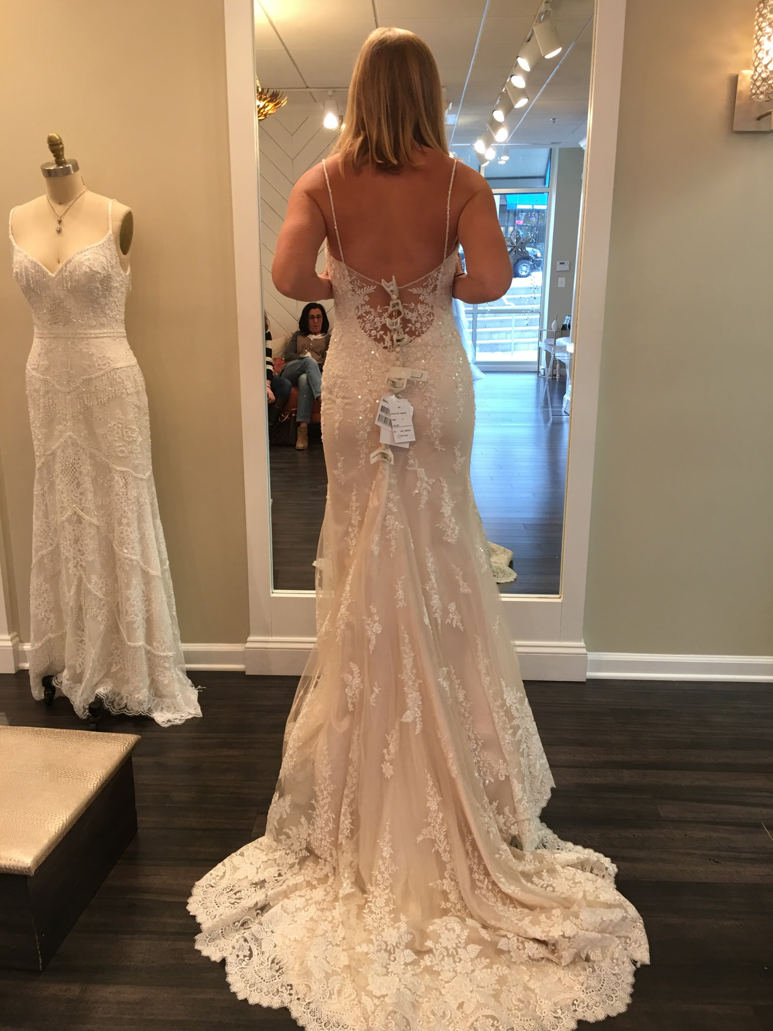 Maggie Sottero Lace Ivory Champagne Wedding Dress Size
