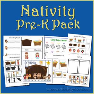 Imprimibles Navidad - Natividad PreK Paquete