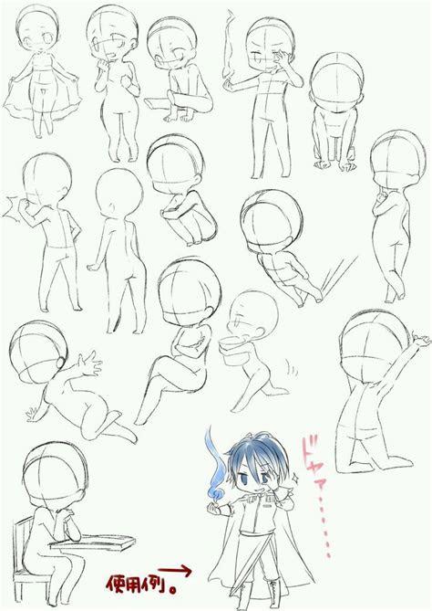 dibujo chibis anime poses mood eye manga