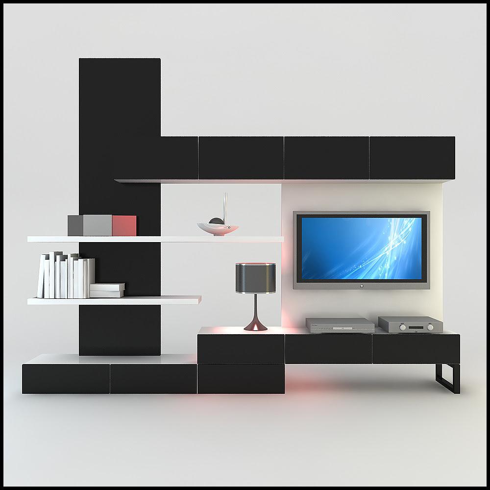 TV / Wall Unit Modern Design X_20 3D Model .max .obj .3ds .c4d ...