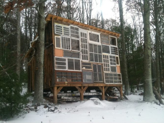A House Made of Windows, amazing architecture, art: A House Made of Windows, art and culture: A House Made of Windows,  Nick Olson and Lilah Horwitz glass cabin, glass cabin west virginia, west virginia glass cabin, In 2012, Nick Olson and Lilah Horwitz quit their jobs and set off to build a glass cabin in the mountains of West Virginia.