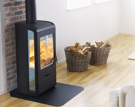 Wood Burning Stove from Nibe - modern Handol 30 stoves with ...