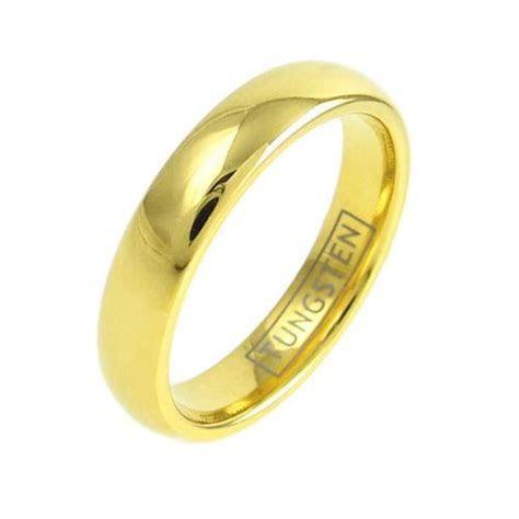 14k Gold Ion Plated Tungsten Wedding Band Men Women