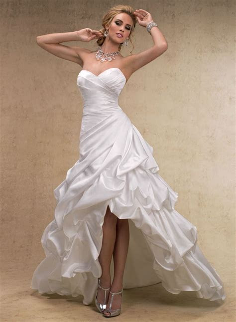 Maggie Sottero A line Wedding Dresses   High low wedding