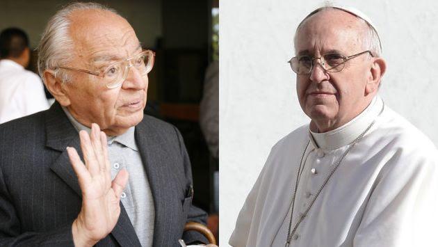 Gutiérrez y Francisco dialogaron en una reunión privada. (USI)