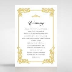 Regally Luxe Ivory Wedding Announcement   Quarter Fold