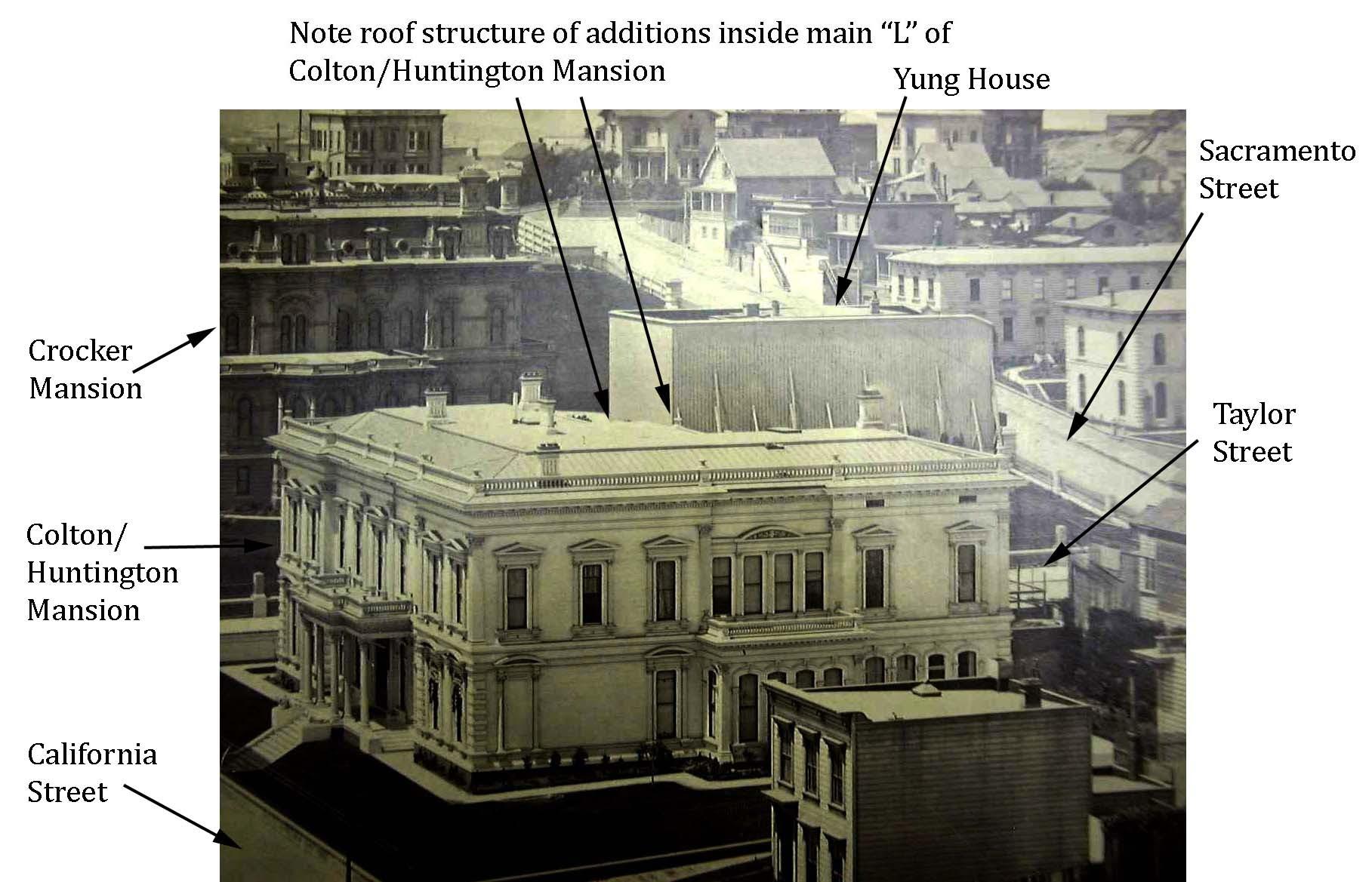Crocker Spite Fence Colton-Huntington mansion shape