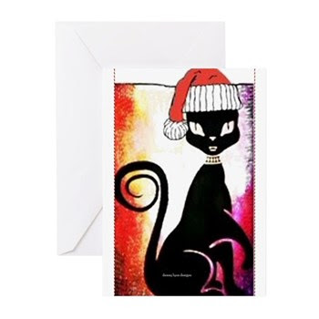 Santa Diva Cat Greeting Cards (pk Of 10)