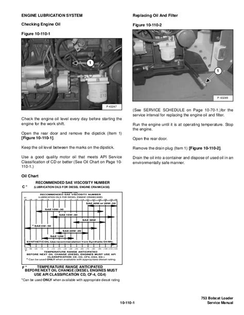 Bobcat 753 skid steer loader service repair manual (sn