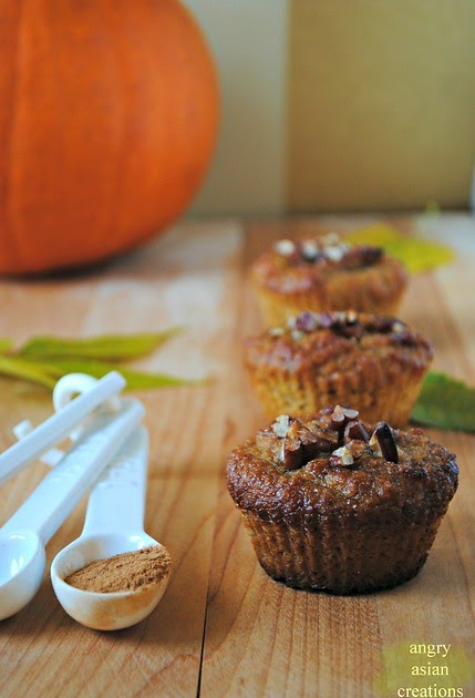 Angry Asian Creations: butternut squash + almond muffins ...