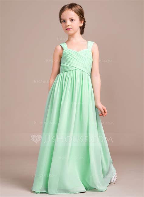A Line/Princess Sweetheart Floor Length Chiffon Junior