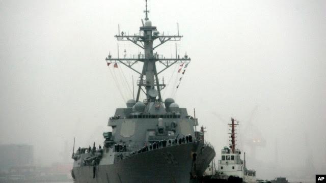 """美国""""拉森""""号导弹驱逐舰"""